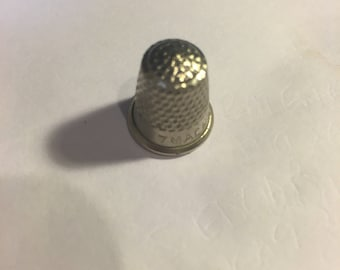 Miniature white metal thimble