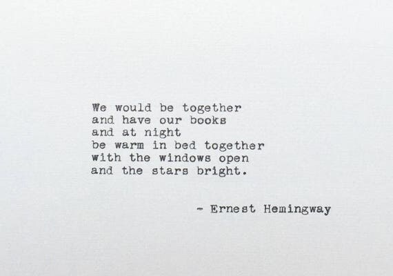 Hemingway Quotes On Love Amusing Typed Love Quote Ernest Hemingway Typewriter Quote A