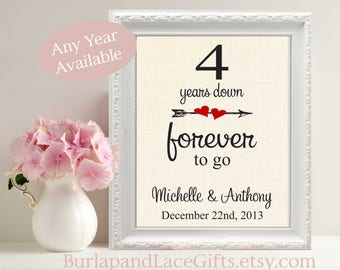 4th Anniversary Gift to Wife Linen Anniversary Gift for Wife 4th Anniversary Gift for Husband Gift to Husband 100% Linen Fabric (208)