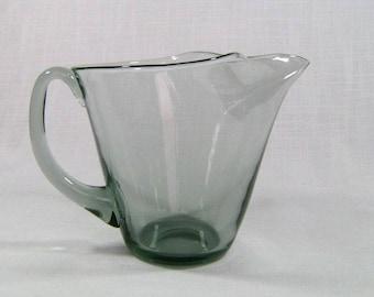 Danish Modern Smoked Glass Pitcher