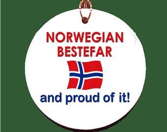 Norwegian Bestefar (grandfather) and Proud of It Ornament