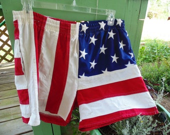 American Flag Shorts mens Large