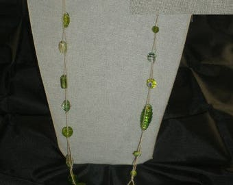 Col093 - Collar / necklace of Lampwork Glass Beads