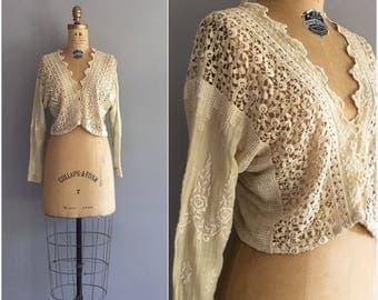 Rose Garden blouse • 1910s cotton top