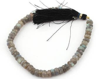 Valentines Day 1 Strand Labradorite Roundelles - Labradorite Faceted Rondelles Beads 7mm 8 Inches SB1178