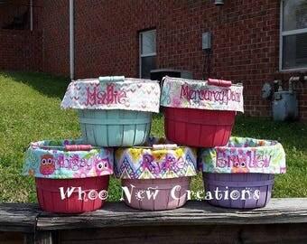 Girl Easter basket, Easter basket with liner, Kid's Easter Basket, Monogrammed Easter Basket, Personalized Easter Basket, BASKET AND LINER