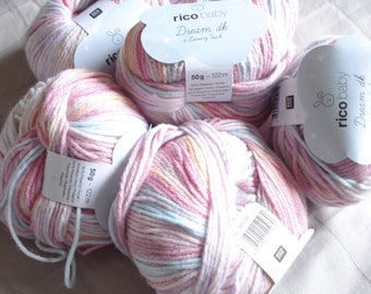 RICO BABY Dream dk wool / Dedrades pink and blue