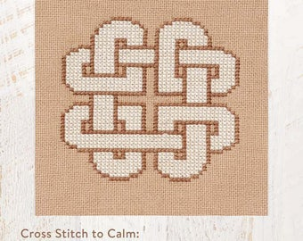 Cross Stitch to Calm: Knotted Hearts Cross Stitch Chart Download (804238)