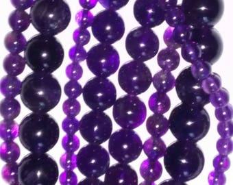 6mm x 22 Natural Amethyst Loose Gemstones Round