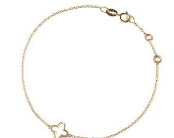ON SALE gold clover bracelet