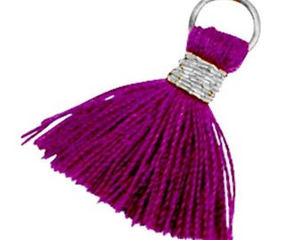 Tassels, tassel-3 pcs.-1.8 cm-Color selectable (color: eggplant purple)
