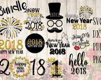 New Year SVG. New Year Bundle. 2018 SVG Bundle. Happy New Year 2018. My 1st New Year Svg. Happy New Year Cut File. Hello 2018 SVG. New Year