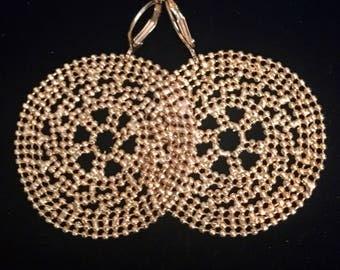 Joan Rivers Beaded Circle Earrings