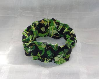 St Patricks Day Dogs (Scrunchie) Dog/Cat Collar Cover Small, Medium and Large