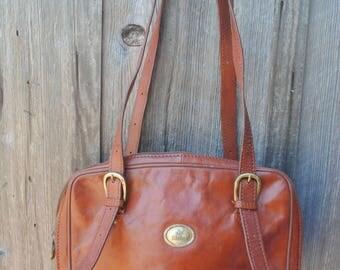 Vintage de Moina burgundy leather shoulder handbag