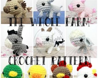 The Whole Farm - Crochet Pattern - Farm Animals