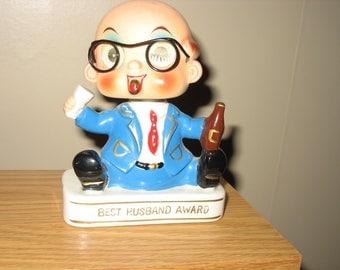 Bobblehead Best Husband Award figurine, vintage