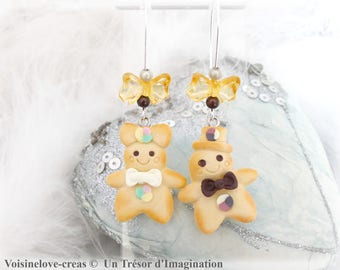 Mr and Mrs Biscuit earrings