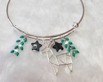 The Chamois green silver bracelet