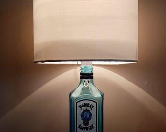 Stunning Bombay Saphire Gin bottle lamp