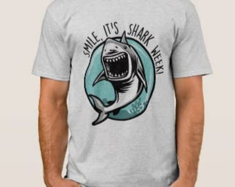 Shark week basic tee