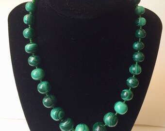 Malachite Beaded Necklace