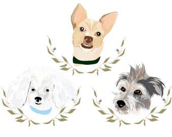 Custom Pet Portrait - 3 Pets!
