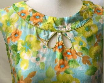 1960's Vintage Bullocks Willshire Bright Floral Dress