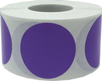 "Purple 1.25"" Inch Color Code Label 