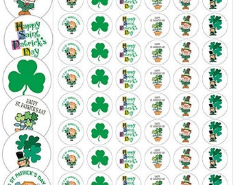 "Assorted St Patricks Day Envelope Seals - 1.2"" Fun St Patrick's Day Stickers - 144 Stickers - 25176"