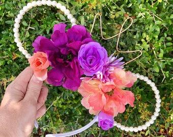 Floral Pearl Princess Park Ears