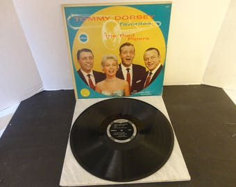 TOMMY DORSEY favorites the Pied Pipers withthe John Carlton Orchestra Craftsman Records C8032 33 1/3 RPM magnificient Hi-Fi long play album