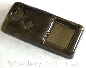 Rare Vintage Whitefriars Twilight Art Glass Architectural Slab No 2 only made in 1969 possibly designed by Geoffrey Baxter (ref: 3179)