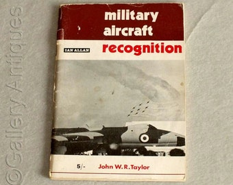 Vintage Military Aircraft Recognition by John W R Taylor Paperback Book 1969 Published by Ian Allan ABC Militaria Planes (ref: 4008)