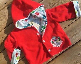 Size 2, Personalized Children's Jacket, Fleece Baby Jacket