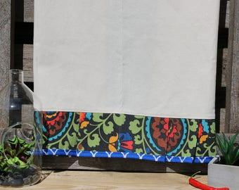"Decorative Tea Towels - Set of 2  - Oversized 28"" x 31""  - Natural fiber - 2 Pattern pleated design- 100% Cotton - Machine Washable"