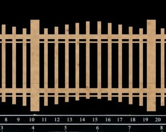 Scrapaholics Chipboard - Simple Wrought Iron Fence