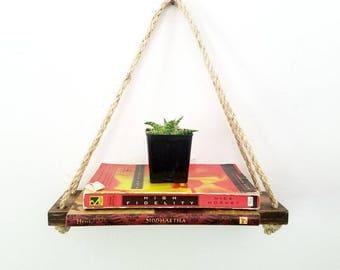 Floating Shelves | Hanging Shelf | Floating Shelf | Hanging Rope Shelf | Swing Shelf | rustic decor | farmhouse decor