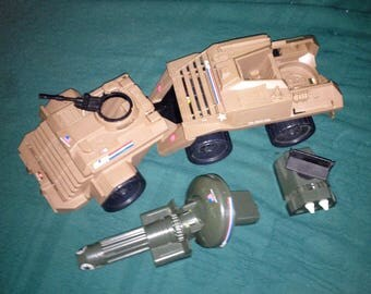 Vintage 1988 GI Joe Mean Dog Vehicle Hasbro Incomplete
