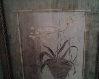"""Large Isabelle De Borchgrave Print/ Titled """" Dancing Lady Orchid"""""""