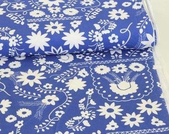 Jersey Fabric Fiesta Fun Mexican Dress Midnight- Art Gallery cotton jersey UK Seller