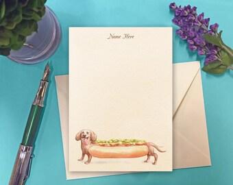 Landis Custom Correspondence Cards - Hot Wiener Dog