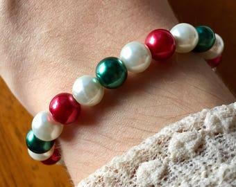 Christmas Joy Pearl Bracelet