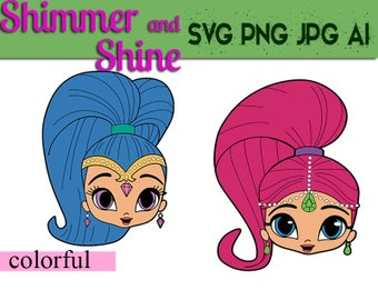 Shimmer and Shine Clipart svg 300dpi , Shimmer and Shine digital,Shimmer and Shine Party,Shimmer and Shine,PNG ,SVG,