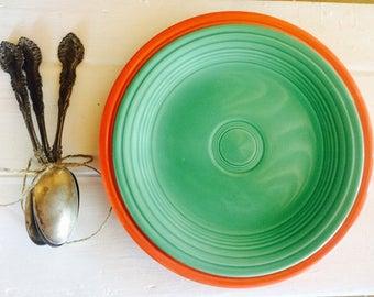 vintage fiestaware vintage homer homer laughlin green green fiestaware vintage fiesta - Fiesta Plates