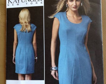 Vogue UNCUT Sewing Pattern 1360 / Kay Unger New York / Misses' Close-Fitting, Lined Dress