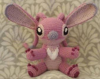 Angel inspired crochet doll