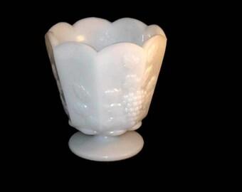 Vintage Milk Glass Flower Pot, EO Brody Co Vase, Colonial Design, Home Decor, Milk Glass, Table Decor, Vintage Milk Glass
