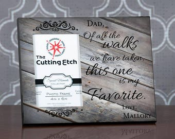 Dad Wedding Frame , Personalized Dad Wedding Gift from Bride, Father Wedding Thank You Gift, Of All The Walks Frame, For Dad from Daughter