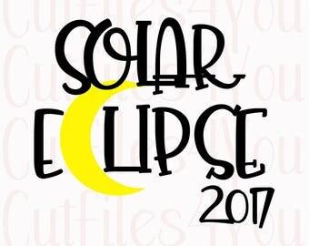 Solar Eclipse SVG, 2017 Solar Eclipse, Total Solar Eclipse, August 21, 2017, Eclipse SVG, Trendy SVG, Total Eclipse 2017